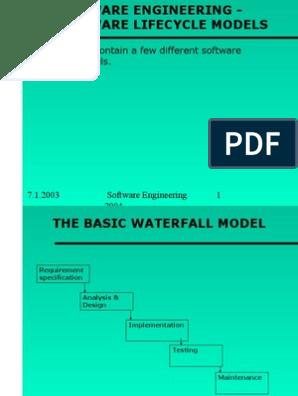 2 Lifecycle Models Software Development Software Development Process