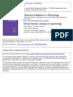 Braun & Clarke 2006 - Using Thematic Analysis