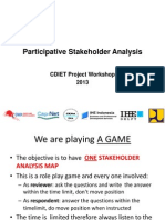 Participative Stakeholder Analysis Game 1