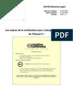 Les Enjeux de La Certification Pour Lafarge Maroc - Usine de Tetouan II