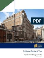 3-5 Great Scotland Yard, Westminster ~ Construction Management Plan 2012