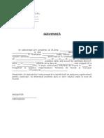 Model Adeverinta Deducere - Persoane Intretinere