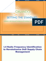 Radio Frequency Identification to Revolutionize Department of Defense Supply Chain Management