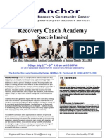Anchor Recovery Coach Academy Flyer July 2013