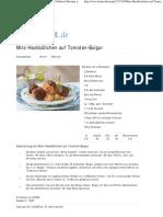 Minz-Hackbällchen auf Tomaten-Bulgur Rezept - Chefkoch-Rezepte auf LECKER
