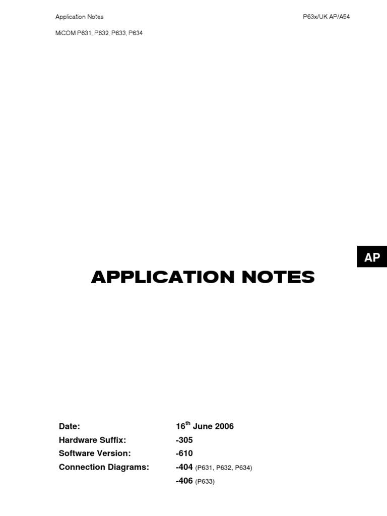 Areva P633 Relay Manual - vegalomessagewm