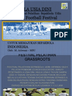 SEPAKBOLA USIA DINI (PRESENTATION ABOUT GRASSROOTS FOOTBALL)