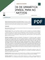 Aspectos de gramática del español para no nativos