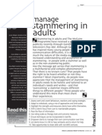 How . . . I manage stammering in adults.