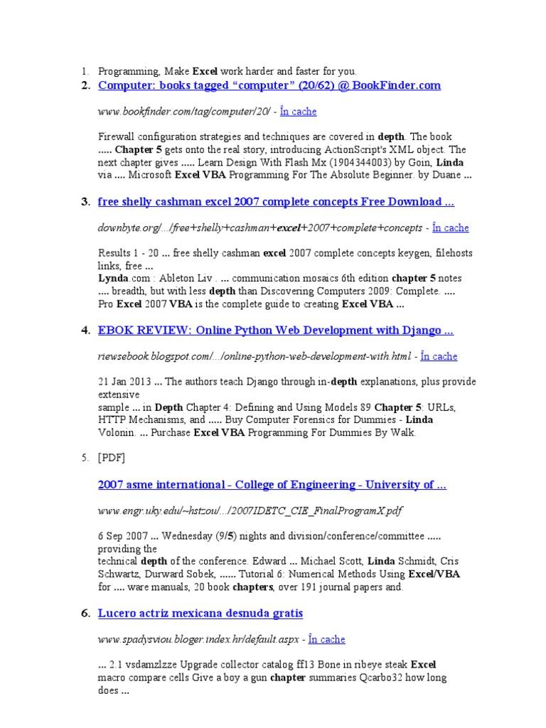 Excel Vba Programming For Dummies 3rd Edition Pdf