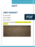 Live Project on debt market