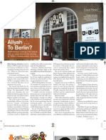 Aliyah Le Berlin- Baltimore Jewish Times & Washington Jewish Week Coverage