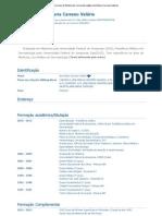 Currículo do Sistema de Currículos Lattes (Ana Maria Carreno Valério)