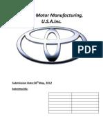 Toyota Motor Manufacturing_Draft 1