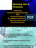 Form, Meaning, Use in Grammar