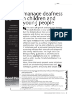 How . . . I manage deafness in children and young people.