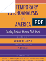 Arnold m. Cooper Contemporary Psychoanalysis in America Book