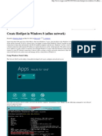 Create HotSpot in Windows 8 (Adhoc Network)