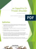 Adhesive Capsulitis Or Frozen Sholder.pptx