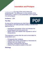 Cord Presentation and Prolapse