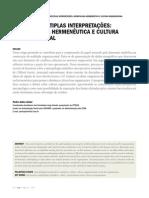 SD-01920 - Pedro Jaime - UM TEXTO, MÚLTIPLAS INTERPRETAÇÕES