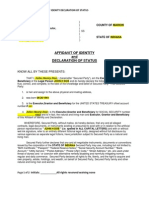 Affidavit of Idenity Template