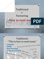example of partnering questions reading music