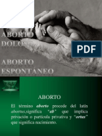 ABORTO. MAESTRIA