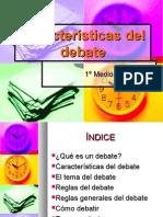 Características del debate1