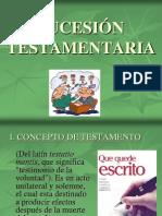 SUCESIÓN TESTAMENTARIA