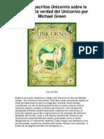 Los manuscritos Unicornis sobre la historia y la verdad del Unicornio por Michael Green - Averigüe por qué me encanta!.pdf