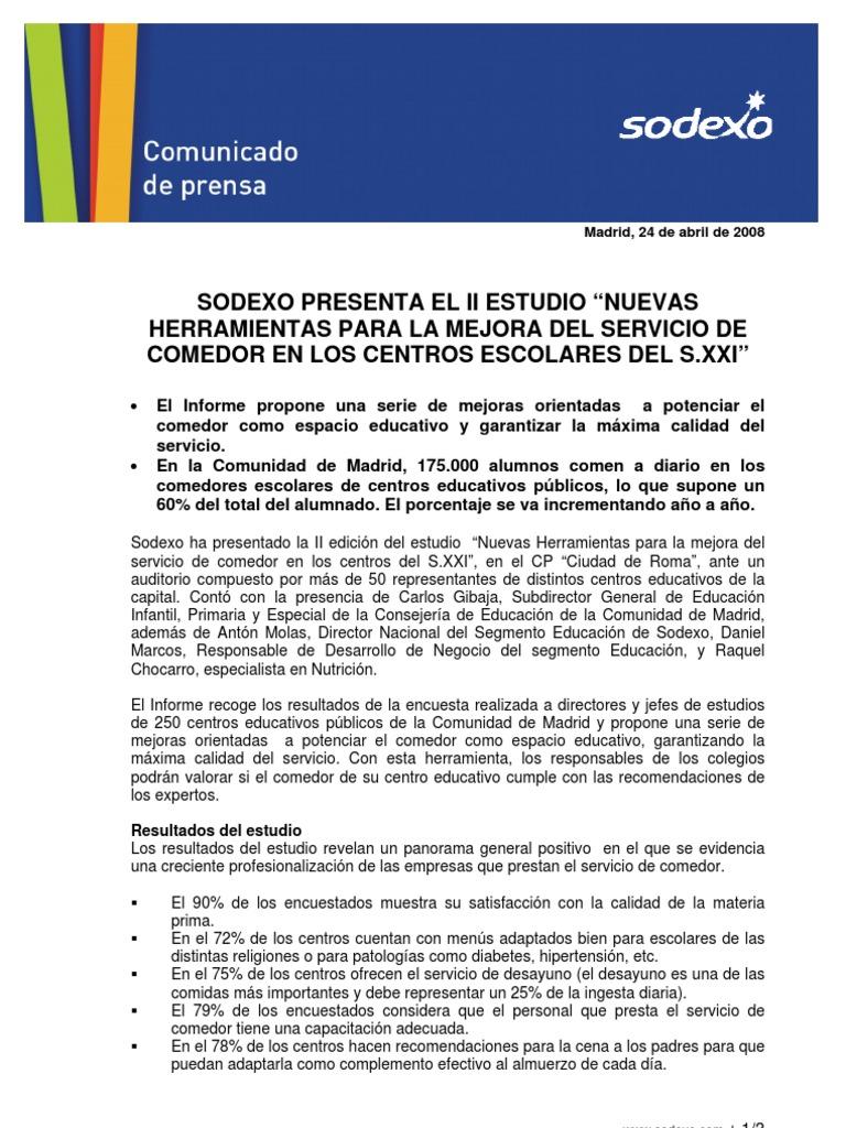 NP Estudio Comedores Escolares 2008 Tcm120 139724 | Madrid ...