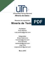 Minería de textos