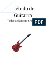 Metodo de Guitarra, Todas as Escalas e Arpegios Pt