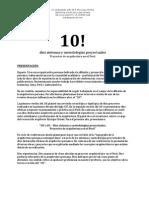 10! - Diez Sistemas y Metodologias Proyectuales
