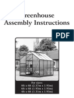 08840-1-2 Alum Greenhouse Instructions Unbranded