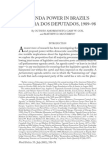 World Politics  55 (July 2003),550–78 AGENDA POWER IN BRAZIL'SCÂMARA DOS DEPUTADOS,1989–98