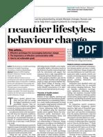 Healthier Lifestyle, Behaviour Change