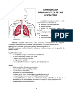 Administrarea Medicamentelor Pe Cale Respiratorie