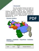 Mapa- Estados y Sus Capitales