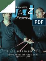 Lancaster Jazz Festival Print Programme 2013