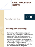 Nature and Process of Controlling