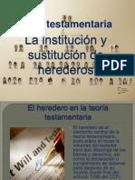 La institución y sustitución de herederos