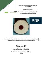 Metodologia Calculo Isolante V2