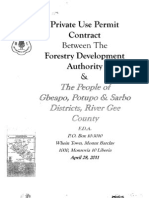 Pivate Use Permit Between Forestry Development Authority and the People of Gbeapo, Potupo _ Sarbo District, River Gee County April 28, 2011