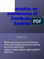 Maintenance of Distribution