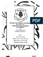 Private Use Permit Between Forestry Development Authority and the People of Zorzor District, Lofa County October 6, 2011