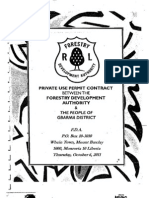 Private Use Permit Between The Forestry Development Authority and the People of Gbarma, Gbarpolu County October 6, 2011