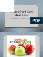 What a Good Cook Must Know