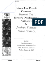 Private Use Permit Between The Forestry Development Authority and the People of Jeadepo District, Sinoe County August 2011
